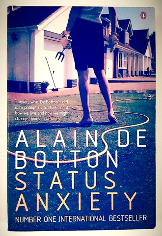 Status Anxiety by Alain de Botton, Once upon a Potty by Alona Frankel and The Husband, A Ladybird book for adults.