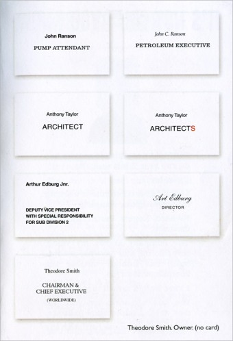 Design your own business card says Paul Arden. Impress people with a completely made up job title.